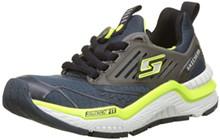 Skechers 97640L Boy's Hyperjolt Sneakers, Slate/Lime/Black - 4