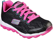 Skechers Kids Girl's Skech - Air Sparkle Jumper 80164L (Little Kid/Big Kid) Black/Hot Pink 11.5 Little Kid