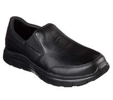 Skechers Men's Work Relaxed Fit Flex Advantage SR Bronwood Loafer,Black,US 9 M