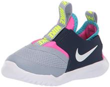 Nike Flex Runner Slip-On Sneaker - Kids (4-I, Navy/Grey/Pink)