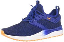 PUMA - Mens Pacer Next Excel Variknit Shoes, Size: 9.5 D(M) US, Color: Surf The Web/Orange Pop/Puma White