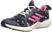 adidas Unisex Fortarun X Running Shoe, Black/Real Pink/Collegiate Navy, 4 M US Big Kid