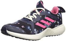 adidas Unisex Fortarun X Running Shoe, Black/Real Pink/Collegiate Navy, 5 M US Big Kid