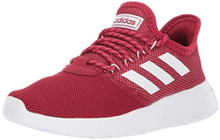 adidas Women's Lite Racer RBN Running Shoe, Active Maroon/White/Blue Tint, 6.5 M US