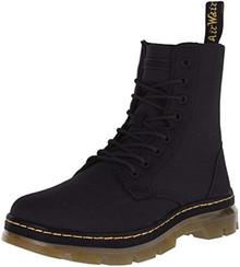 Dr. Martens Men's Combs Nylon Combat Boot, Black, 11 UK/12 M US
