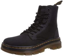 Dr. Martens Men's Combs Nylon Combat Boot, Black, 7 UK/8 M US