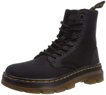 Dr. Martens Men's Combs Nylon Combat Boot, Black, 8 UK/9 M US