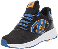 Heelys Boys' Bandit Wheeled Heel Shoe, Black/Blue/Saffron, 4 M US Big Kid