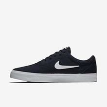Nike Charge Unisex Skate Lace-up Shoes (7, Obsidian White)