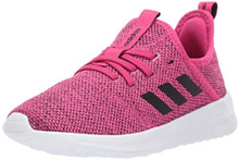 adidas Unisex-Kid's Cloudfoam Pure Running shoe, real magenta/black/grey, 2 M US Little Kid