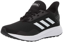 adidas Unisex-Kid's Duramo 9 Running Shoe White/Black, 7