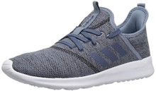 adidas Women's Cloudfoam Pure Running Shoe, raw Grey/tech Ink/Black, 6.5 M US