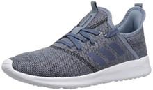 adidas Women's Cloudfoam Pure Running Shoe, raw grey/tech ink/black, 8 M US