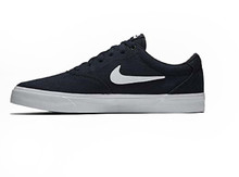 Nike Charge Unisex Skate Lace-up Shoes (10, Obsidian White)