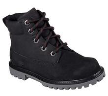 Skechers 93164L Boy's Mecca - Outer Venture Boots, Black - 4.5