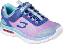 Skechers Infant/Toddler Girls' Air Appeal Airbeam Trainer,Blue/Multi,US 5 M