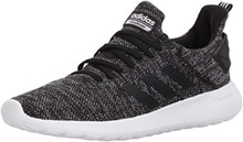 adidas Men's Lite Racer BYD Running Shoe, black/white/black, 7.5 M US