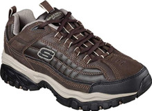 Skechers Energy Downforce Mens Sneakers Brown/Taupe 11.5 Wide