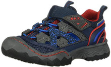 Skechers Boy's, Whipsaw - Wander Trek Sandal Navy RED 6 M