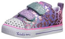 Skechers Kids Girls' Shuffle LITE-Leopard Cutie Sneaker, Multi, 10 Medium US Toddler