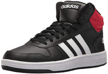 adidas Men's VS Hoops Mid 2.0, Core Black/White/Scarlet, 7.5 M US