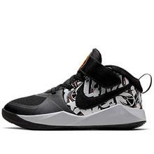 Nike Little Boys Team Hustle D 9 Graphic Stay-Put Closure Basketball Sneakers (13, Black/Bright Ceramic-META)