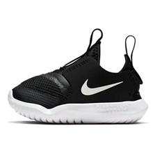 Nike Toddler Boys' Flex Runner Slip-On Athletic Sneakers (4, Black/White)
