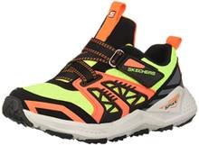Skechers Kids Boys' Turbo Spike 97913L Sneaker, Black/Yellow, 2