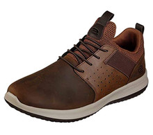 Skechers Men's Delson Axton Crazy Horse Leatherfashion-Sneakers 9 2E US