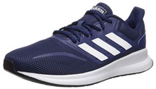 adidas Men's Falcon Running Shoe, Dark Blue/White/Black, 9.5 M US
