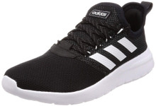 adidas Men's Lite Racer RBN Sneaker, Black/White/Grey, 7 M US