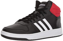 adidas Men's VS Hoops Mid 2.0, Core Black/White/Scarlet, 7 M US