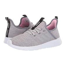 adidas Women's Cloudfoam Pure Running Shoe, Grey/Grey/True Pink, 7.5 Medium US