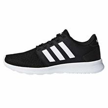 adidas Women's Cloudfoam QT Racer Sneaker, Black/White/Carbon, 5 M US