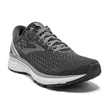 Brooks Mens Ghost 11 Running Shoe - Ebony/Grey/Silver - D - 7.5