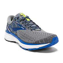 Brooks Mens Ghost 11 Running Shoe - Grey/Blue/Silver - D - 7.5