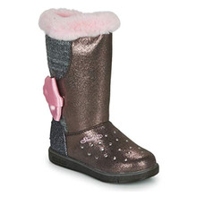 Skechers Glitzy Glam-Cozy Cuties Girls' Toddler-Youth Boot 4 M US Big Kid Charcoal