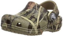Crocs Kids' Classic Realtree Clog | Slip On Water Shoe for Toddlers, Boys, Girls, Khaki, 11 M US Little Kid