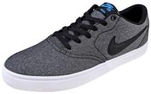 Nike Men's SB Check Solarsoft Canvas Skate Shoe (11 D(M) US, Grey/Black/Photo Blue/Black)