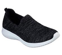 Skechers' Women's Ultra Flex Comfy Glimmer 13126 (Numeric_9_Point_5) Black/White