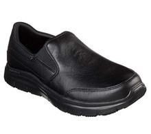 Skechers Work Relaxed Fit Flex Advantage SR Bronwood Mens Loafers Black 14