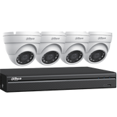 Dahua C544E42 4CH 4K DVR / 4 x 4MP Outdoor IR Eyeball Cameras / 2TB