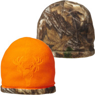Beartooth Youth Reversible Fleece Beanie - Realtree Edge/Blaze Orange - 043552024810