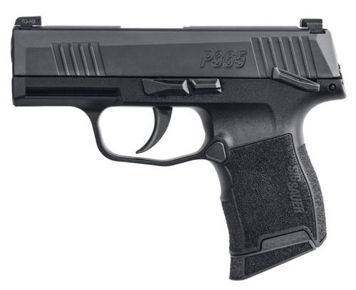 Sig Sauer P365 9mm - Manual Safety - Black - 10 Round - 798681599479