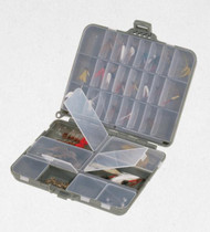 Plano Compact Side-By-Side Tackle Organizer - Gray / Clear - 024099010702
