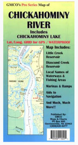 GMCO Chickahominy Pro Series Map - 794492116201