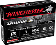 "Winchester Double X 12 Gauge - 3"" - 00 Buckshot - Copper-Plated - 12 Pellets - 1450 FPS - 5 Rounds - 020892017320"