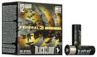 "Federal Black Cloud FS Steel 12 Gauge - 3"" - BB Steel - 1-1/4oz Payload - 1450 FPS - 25 Rounds - 604544623253"