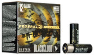 "Federal Black Cloud FS Steel 12 Gauge - 3"" - #4 Steel - 1-1/4oz Payload - 1450 FPS - 25 Rounds - 604544623321"