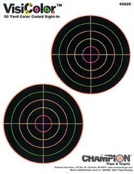"Champion VisiColor 5"" Double Bulls Targets - 10 Pack - 076683458261"